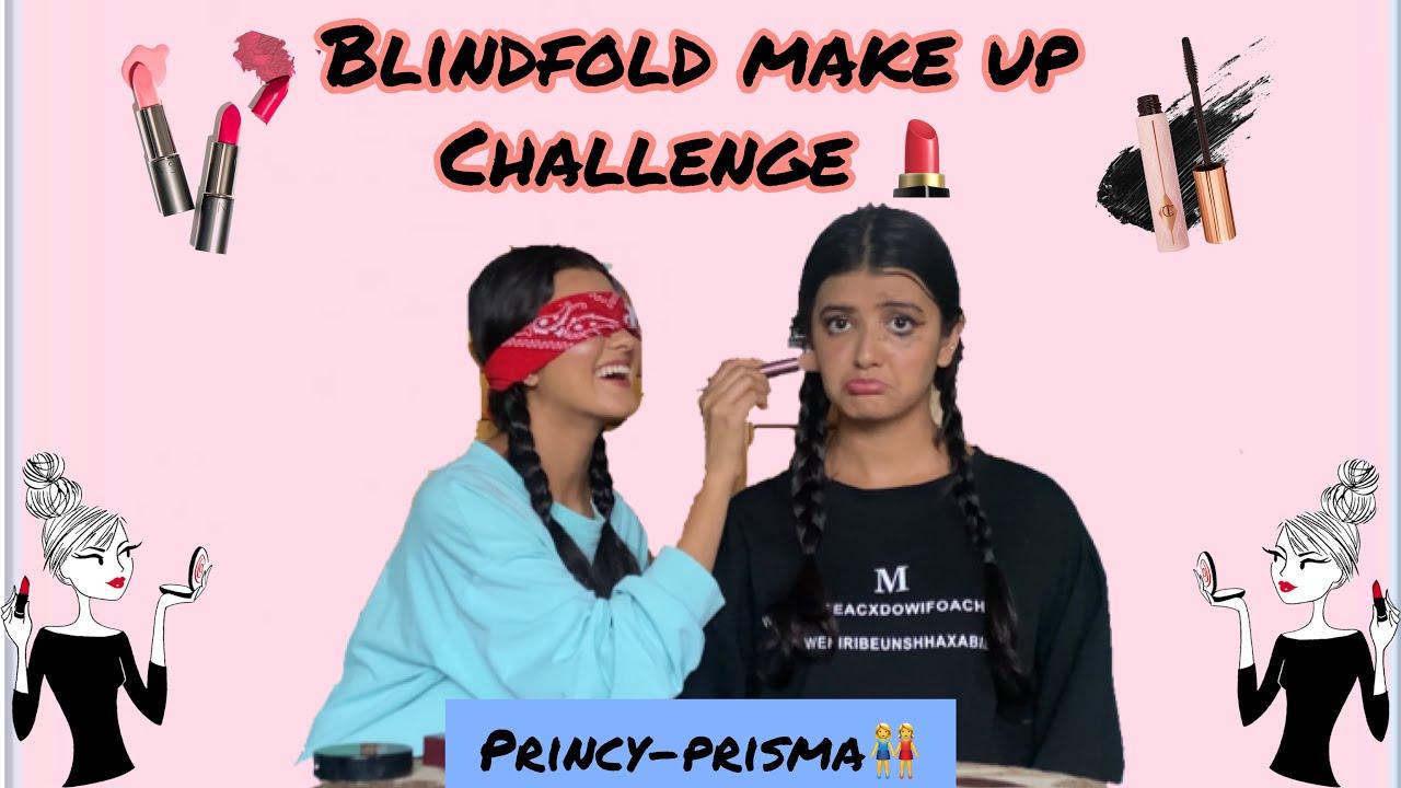 Download BLINDFOLDED MAKEUP CHALLENGE💄🌸  PRISMA-PRINCY KHATIWADA (TWINNYGIRLS) 👭