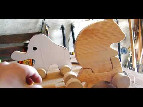 Деревянные игрушки каталки Wooden Toys