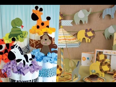 Ideas para baby shower de niño con temática de animalitos