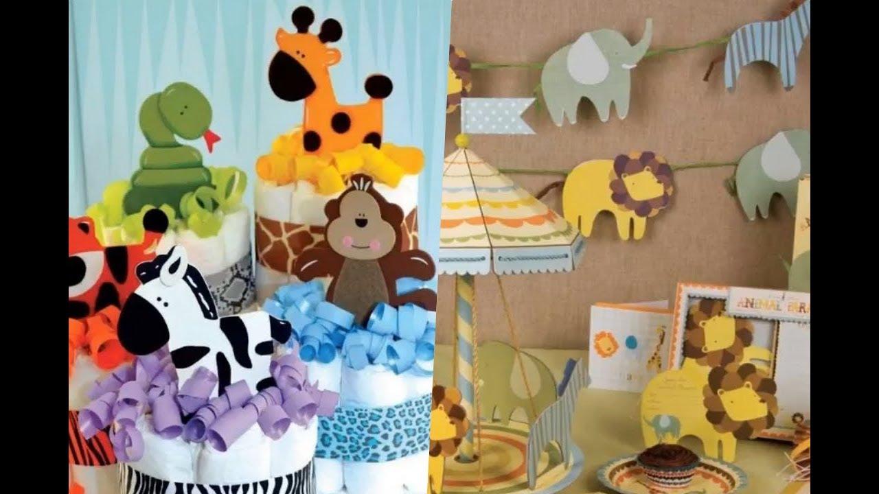 Baby Shower Safari Nino Decoracion.Ideas Para Baby Shower De Nino Con Tematica De Animalitos