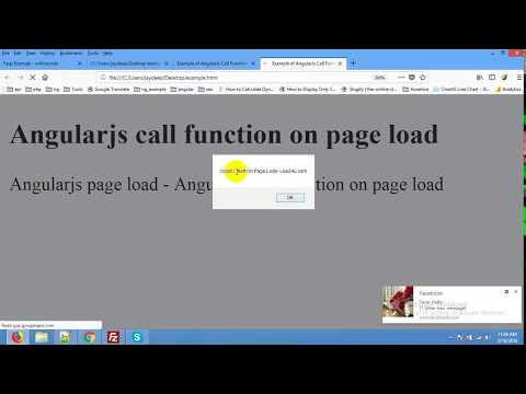 AngularJS Call Function on Page Load Example - YouTube