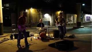 Street Rock Music Band Performing in London Bridge Tube Station