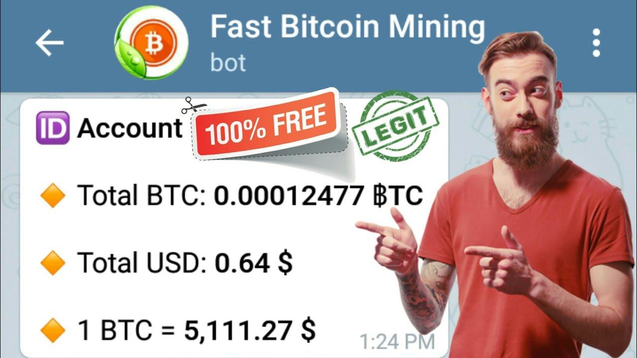Fast Bitcoin Mining New Telegram Bot 100% High Paying Free