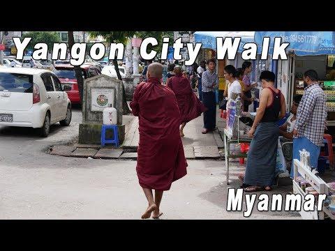 Myanmar, Yangon City Walk