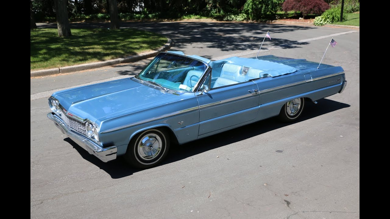 1964 Chevrolet Impala Ss Convertible For Sale 327 325hp Motor Beautiful Color Combination