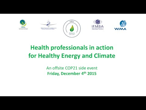 Health professionals in action for Healthy Energy and Climate
