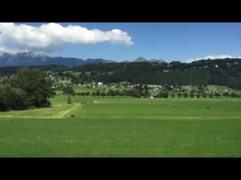 Views from Rail jet Austria to Switzerland