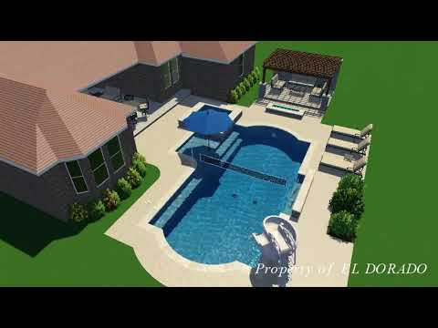 El Dorado 3D Swimming Pool Design - #2 Combination