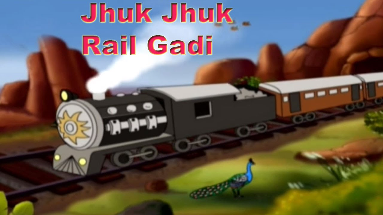 Jhuk Jhuk Rail Gadi - झुक झुक रेल गाड़ी - Popular Nursery Rhymes - Hindi  Animation Songs For Children
