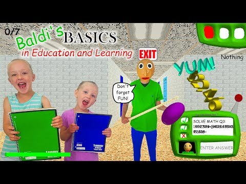 Baldi's Basics in Real Life!!! 7 Notebook Scavenger Hunt & Scary Escape!