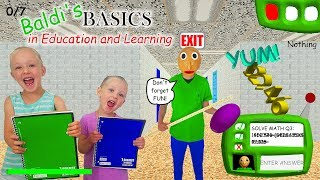 Baldi's Basics in Real Life!!! 7 Notebook Scavenger Hunt & Scary Escape! thumbnail