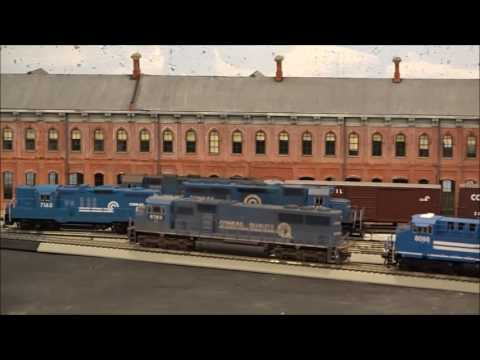 Sparky107107 channel trailer featuring model trains, Conrail, A Canadian division