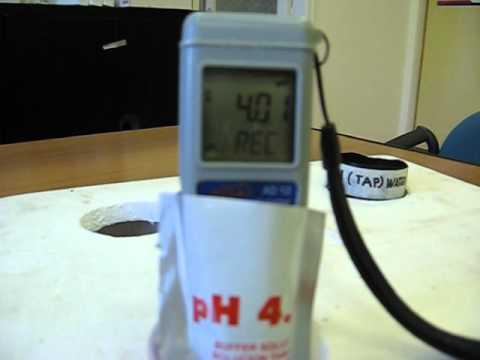 Adwa AD12 pH calibration