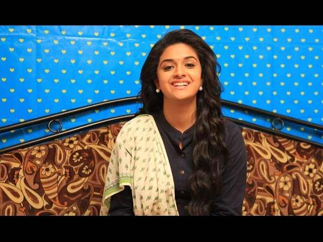 Keerthy Suresh Practices Singing And Music