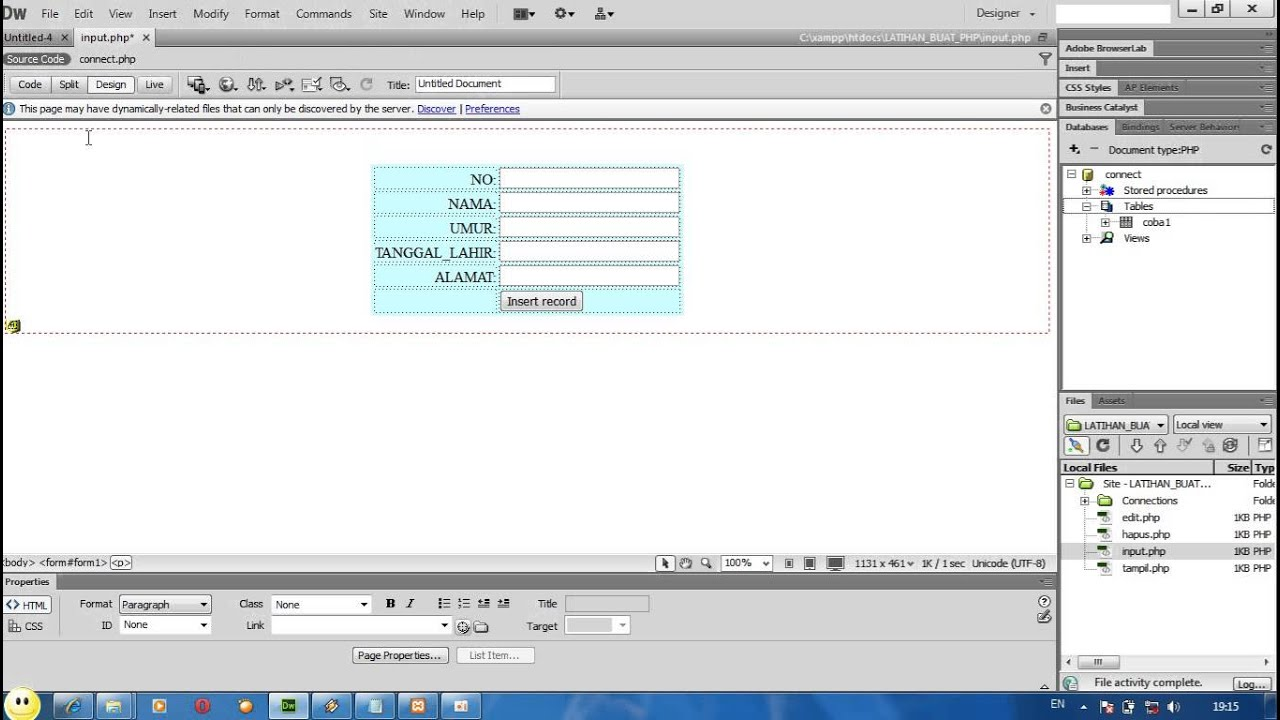 tutorial php dasar lengkap with dreamweaver cs6 by ananto fery