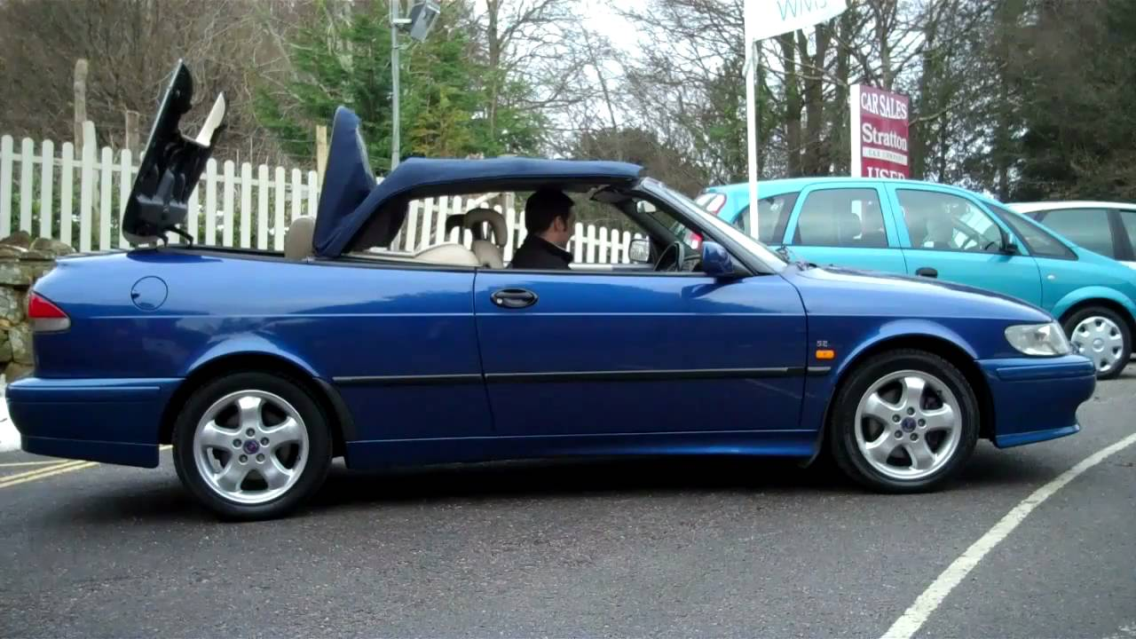 1999 SAAB 9 3 SE Turbo Automatic Convertible For Sale