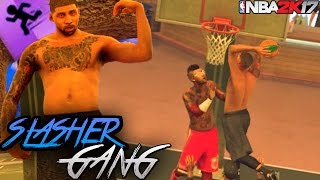 NBA 2K17 Mypark: Weird Athletic Finisher Build Gets Dunked On! Different Videos?