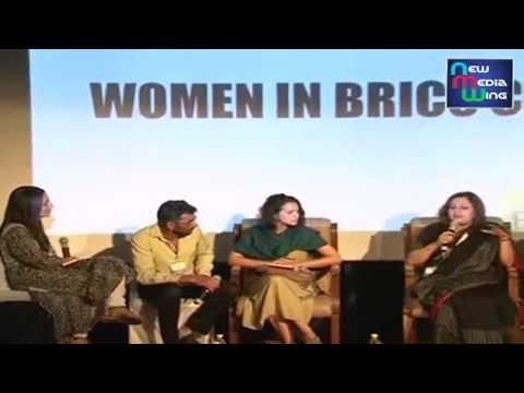 """Delegates discussing on """"Women in BRICS Cinema"""" at #BRICS Film Panchayat in #BRICSFilmFest"""