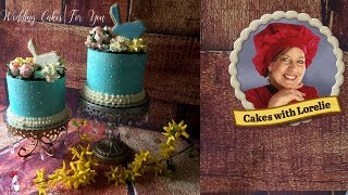 Teal Cake Designs with Sugar Cookie Cake Topper