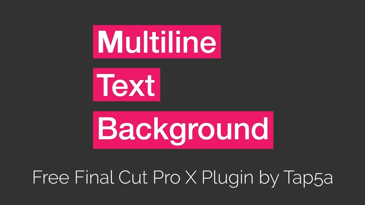 final cut pro text plugins free