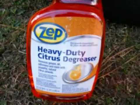 Zep heavy duty citrus degreaser test review