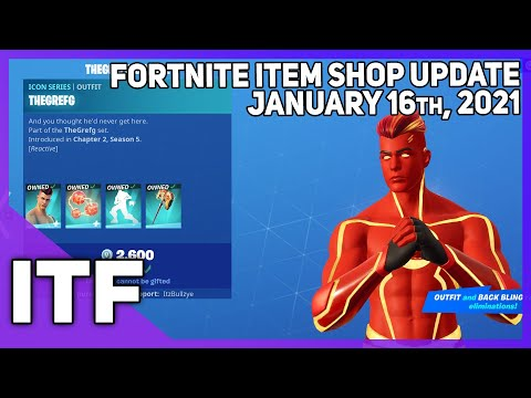 Fortnite Item Shop *NEW* THEGREFG BUNDLE! [January 16th, 2021] (Fortnite Battle Royale)