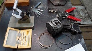 Правильная устновка поршневых колец на поршень (replacement piston rings)