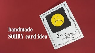 Handmade Sorry Card Idea For Boyfriend | Complete Tutorial