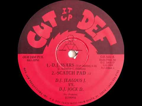 D.J. Jealous J. vs. D.J. Jock D. - D.J. Wars (The Battle)(Cut It Up Def Records 1989)