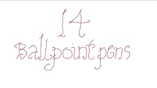 SHORT AND CURLIES 14: Ballpoint Pens
