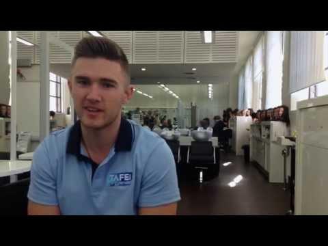 Jake Putan - 3rd Year Hairdressing Student - Hunter TAFE