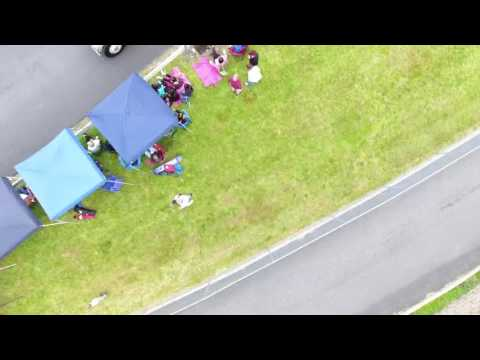 Pennsbury High school Prom Parade Drone view