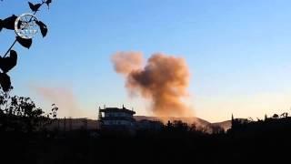 إستهداف الطيران الروسي للمدنيين و محيط مقر للجيش الحر على أوتوستراد اللاذقية الجديد