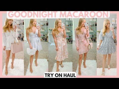 GOODNIGHT MACAROON SUMMER TRY ON HAUL 2019   SUMMER DRESSES ON SALE   Amanda John