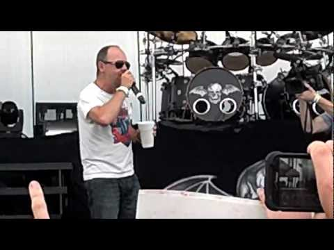 Lars Ulrich introducing Avenged Sevenfold at Orion music festival before Nightmare