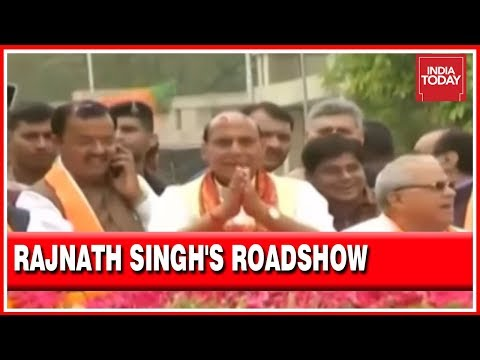 Rajnath Singh In Lucknow Roadshow Before Filing Nomination | Live Visuals