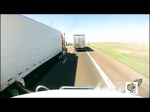 (Graphic) Fatality Dash Cam Car vs Semi Crash I70 MM150 Near Hays, KS 9/14/19