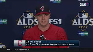 Jay Bruce post-game interview | Indians vs. Yankees ALDS Game 1