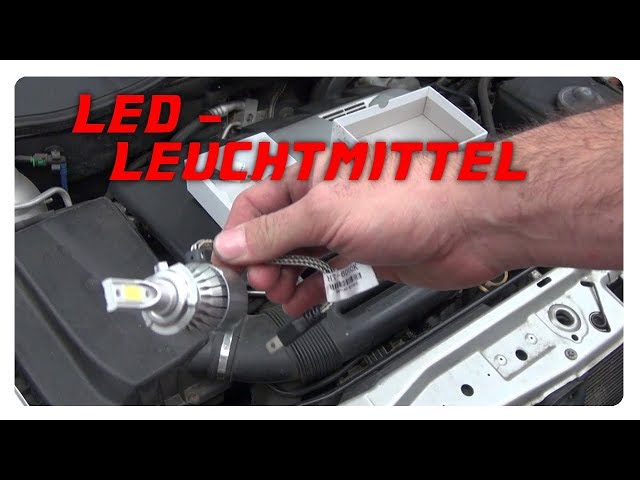 Led Lampen H7 : Led leuchtmittel h youtube