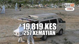 Pecah rekod lagi - 19,819 kes baru, 257 kematian