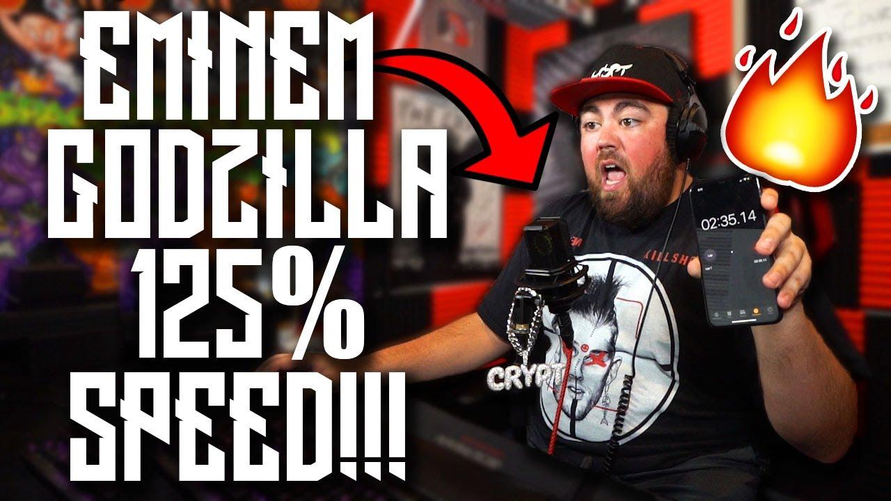 Eminem - Godzilla 125% SPEED RAP CHALLENGE