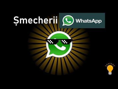 TRUCURI și SFATURI pe WhatsApp