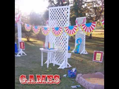 Diy carnival birthday party games decorating ideas youtube for All decoration games