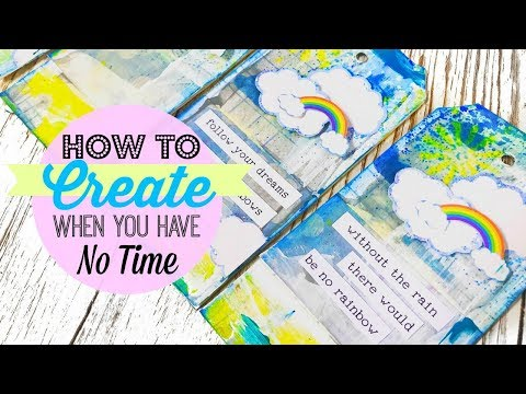 Lollipop Box Club   Mixed Media Tips   How To Create When You Have No Time