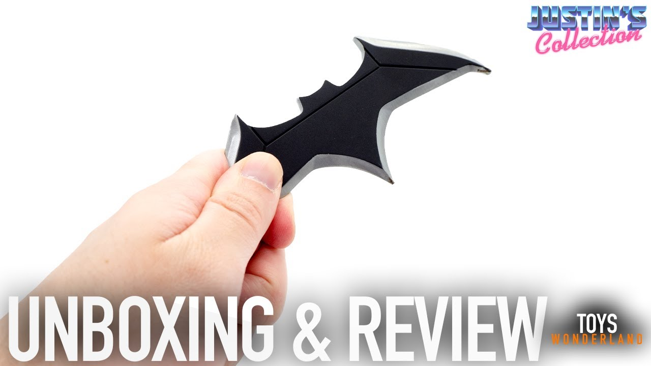 Batman Justice League Batarang Diecast Review - Life Size Prop Replica