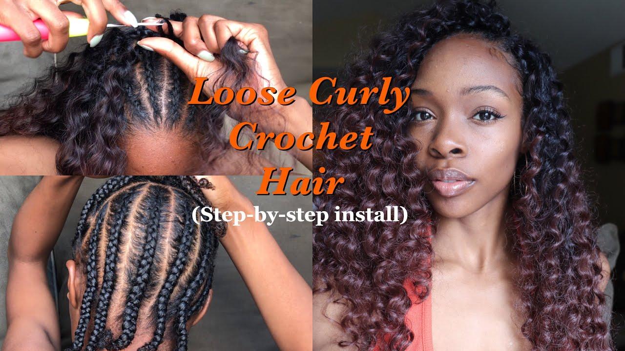 River Curls Wavy Crochet NoKnots Natural Part using Trendy Tresses Crochet Hair  YouTube