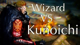 Black Desert Awakening Wizard VS Kunoichi PVP