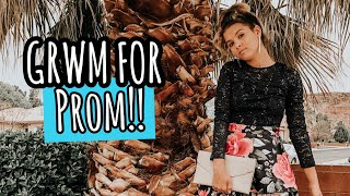 Prom GRWM |shopping for a prom outfit!