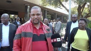 NEHAWU secretary-general Zola Sephetha pleased to announce that 24-hour deadline to memorandum was met, and as a result the planned stayaway has been postponed.   GCIS's Phumla Williams said that it was handy that they were in the province on other business, which led to facilitating the quick get together with Nkosazana Dlamini-Zuma.  Contributor: Louise McAuliffe/EWN