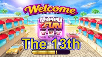 """HOUSE OF FUN Casino Slots Game How To Play """"The 13th"""" Cell Phone"""